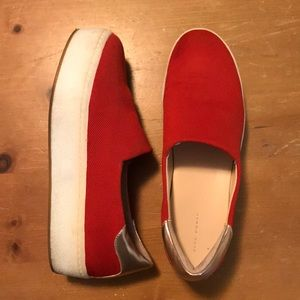 Platform Red Slip-on Sneakers